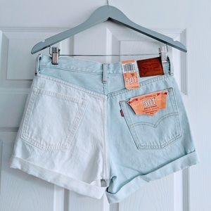 Levi's 501 Denim two tone shorts. W27